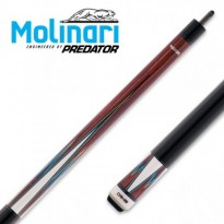 Molinari 2x4 Black-Orange cue case - Molinari by Predator CRMSP-18B Billiard Carom Cue