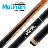 Molinari 2x4 Black-Grey cue case - Molinari by Predator HEO-1 Carom Billiard Cue