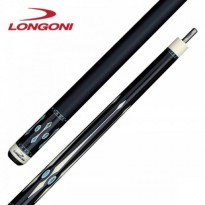 Longoni Black Mamba Shiny Star Pool Cue - Longoni Black Mamba Leather Pool Cue