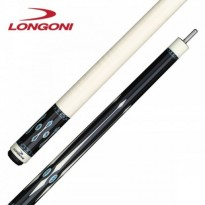 Longoni Black Mamba Shiny Star Pool Cue - Longoni Black Mamba Frisee Pool Cue