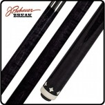 Carbon Break cue Becue Dark Matter - Pechauer BREAK Cue Ebony Stained