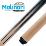 Molinari 2x4 Black-Orange cue case - Molinari by Predator CRMSP-13 Billiard Cue