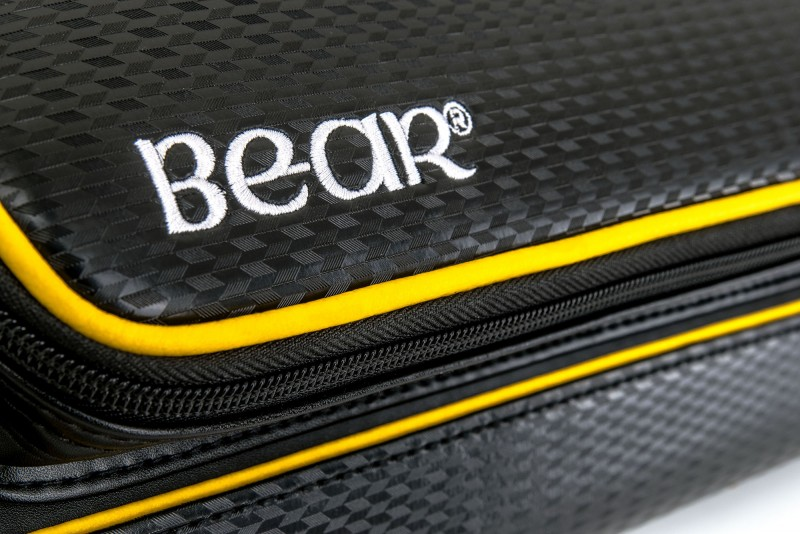 Bear Yellow and Black Cue Case 2x4