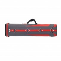 Classic Sport SP-322 2x2 Cue Case - Classic Fortuna 2x4 Grey and Red Cue Case