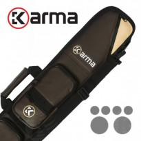 Karma Bara 4x8 Brown and Beige Cue Case - Karma Bara 2x4 Brown and Beige Cue Case