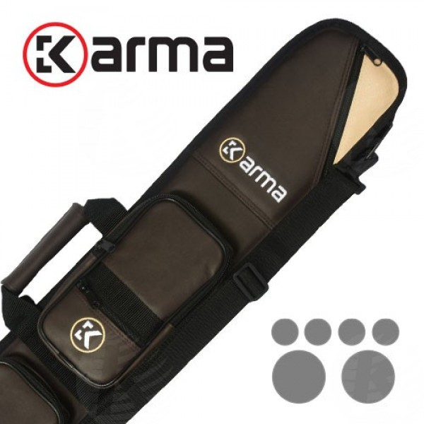 Karma Bara 4x8 Brown and Beige Cue Case