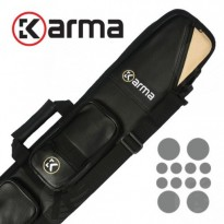 Karma Bara 2x4 Black and Beige Cue Case - Karma Bara 4x8 Black and Beige Cue Case