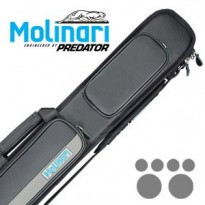 Molinari 2x4 Blak-Cyan Billiard Cue Case - Molinari 2x4 Black-Grey cue case