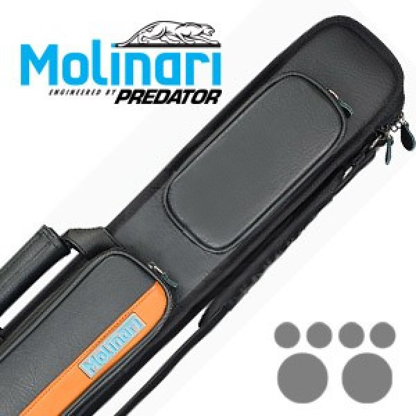 Molinari 2x4 Black-Orange cue case