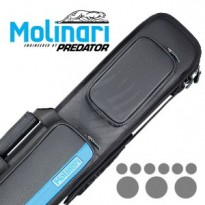 Molinari 3x6 Black-Cyan Billiard Cue Case