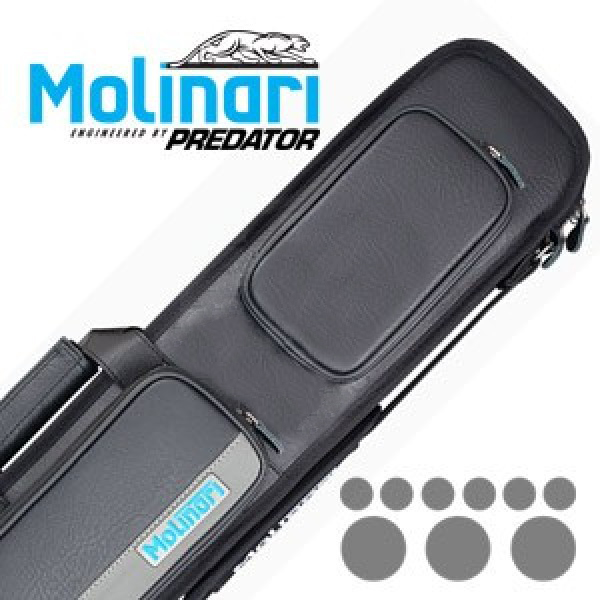 Molinari 3x6 Black-Grey Billiard Cue Case