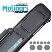 Cases / Cases by brand / Molinari by Predator - Molinari 3x6 Black-Grey Billiard Cue Case