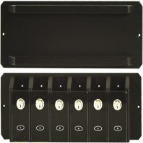 Z2 cue holder x 6 with Score Counter - Cue rack Abs 6 with door