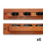 Z2 cue holder x 6 with Score Counter - Z2 cue holder x 6