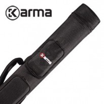 Karma Bara 2x4 Black and Beige Cue Case - Karma Duo 2x2 Cue Case