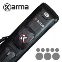 Karma Bara 2x4 Black and Beige Cue Case - Karma Kathora 3x5 cue case