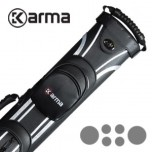 Karma Bara 2x4 Black and Beige Cue Case - Karma Khéla Cue Case - 2x4