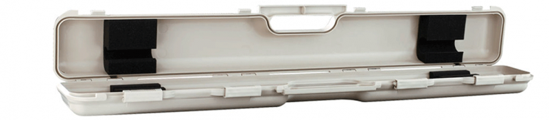 Longoni White Shuttle 1x2 Pool Cue Case