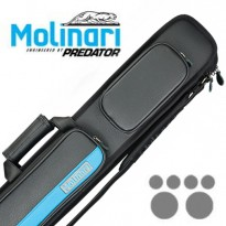 Molinari Cue-Tube Black/Orange - Molinari 2x4 Blak-Cyan Billiard Cue Case