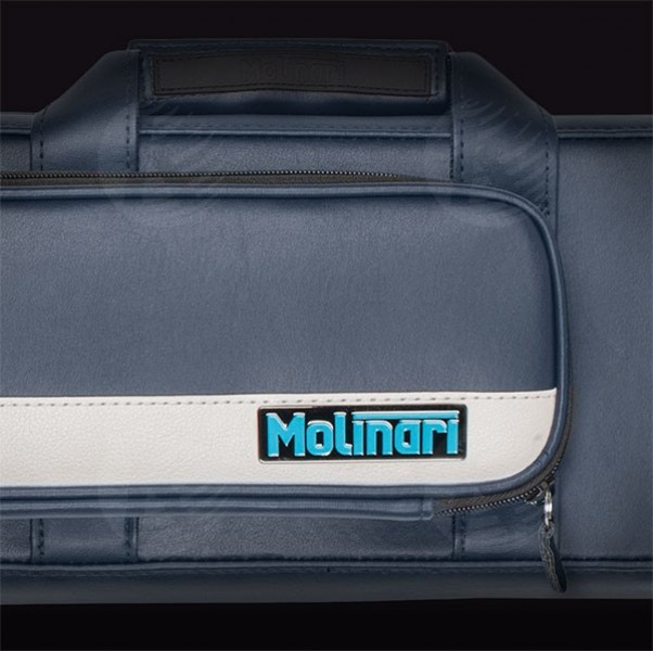 Molinari 3x6 Navy Blue and Beige flat cue case