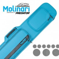 Molinari 3x6 Black-Orange Billiard Cue Case - Molinari 3x6 Cyan-Black flat cue case