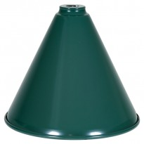 2-Shade Green Billiard lamp with silver axis - Green Shade for Billiard Lamps