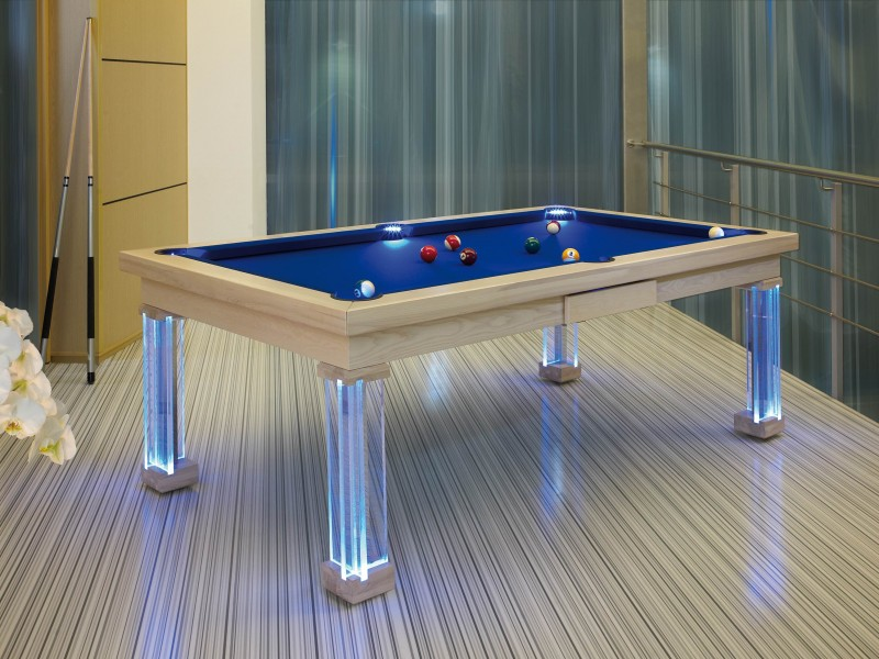 Mesa de pool mnaco 8 39 led - Dimensiones mesa billar ...