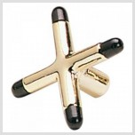 Cue accessories / Cue extensions - Cross shaped brass Bridge Head