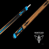 Carom cues / Carom Cues by Brand / Inviktcues - Carom Cue Inviktcues Aquiles Blue Turquoise