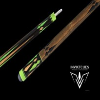 Carom cues / Carom Cues by Brand / Inviktcues - Carom cue Inviktcues Aquiles Green Dragon Special Buttcap